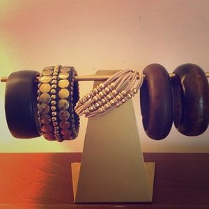 Brown and tan bracelets